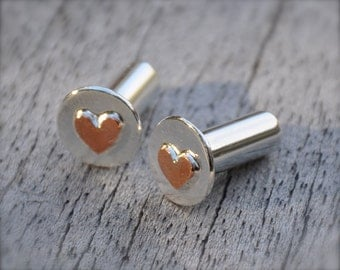 Warm Hearts Copper and Silver Plugs