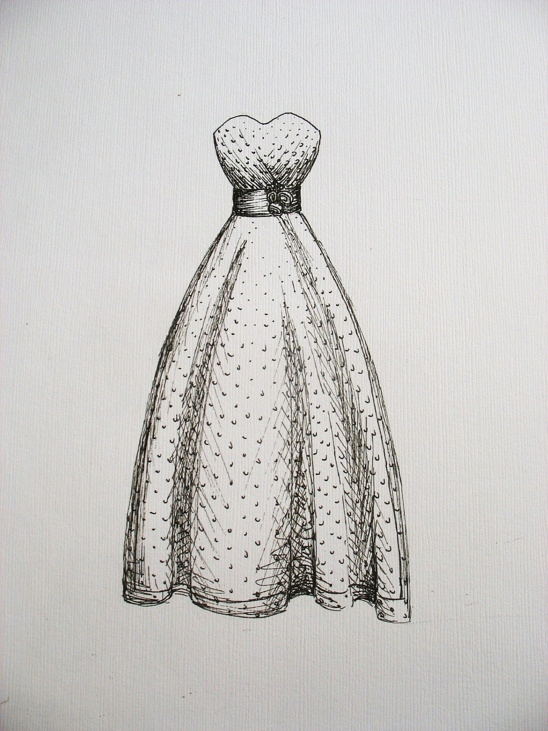 Custom Wedding Gown Sketch
