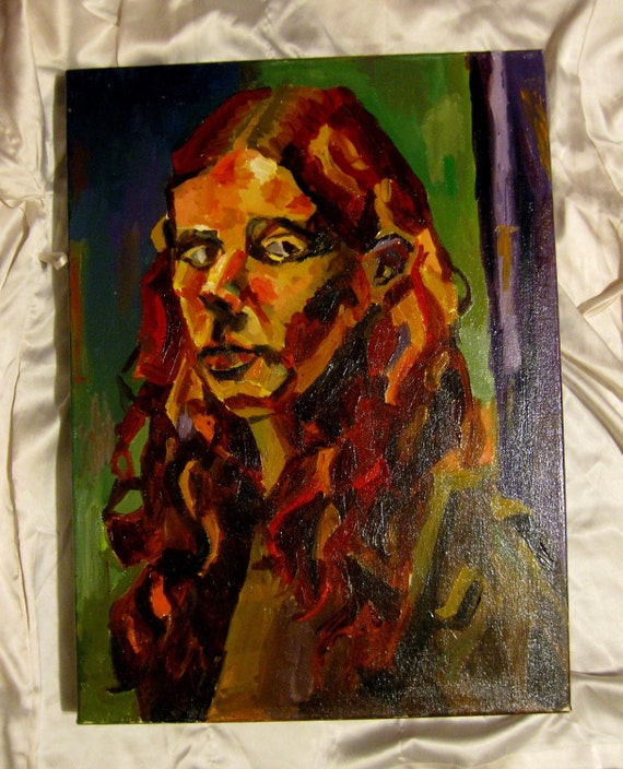 Abstracted Oil Painting - Self Portrait - Eden Gallery