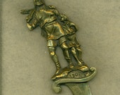 Cast Brass Letter Opener Old Antique William Tell  (VCLO-203)