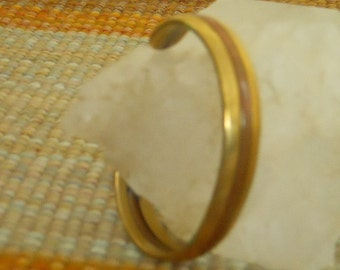 Brass Copper Bracelet Vintage narrow Bangle  (VB-104)