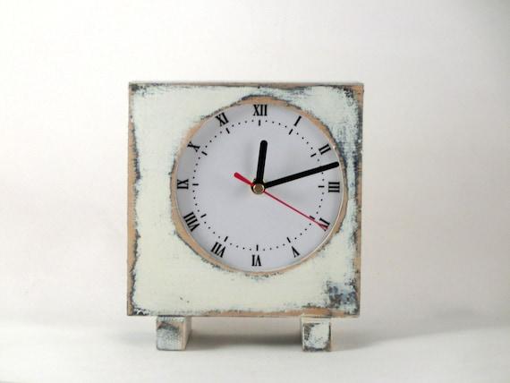 christmas sale - clock oldE white vintage style