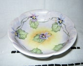 Porcelain Candy Dish Hand Painted ORCHIDS // By Gatormom13  JUST REDUCED