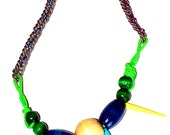 30% OFF - Modern Tribal Beaded Spike Necklace