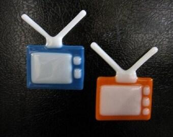 Retro T.V. Magnet orange magnet