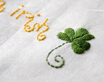St. Patrick's Day Irish Icons --- Hand Embroidery Patterns in PDF Format.