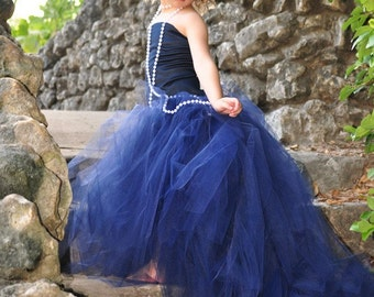Girls Dress-Flower Girl Tutu with Detachable Train and Corset Top--Weddings, Pageants and Portraits-----Vogue