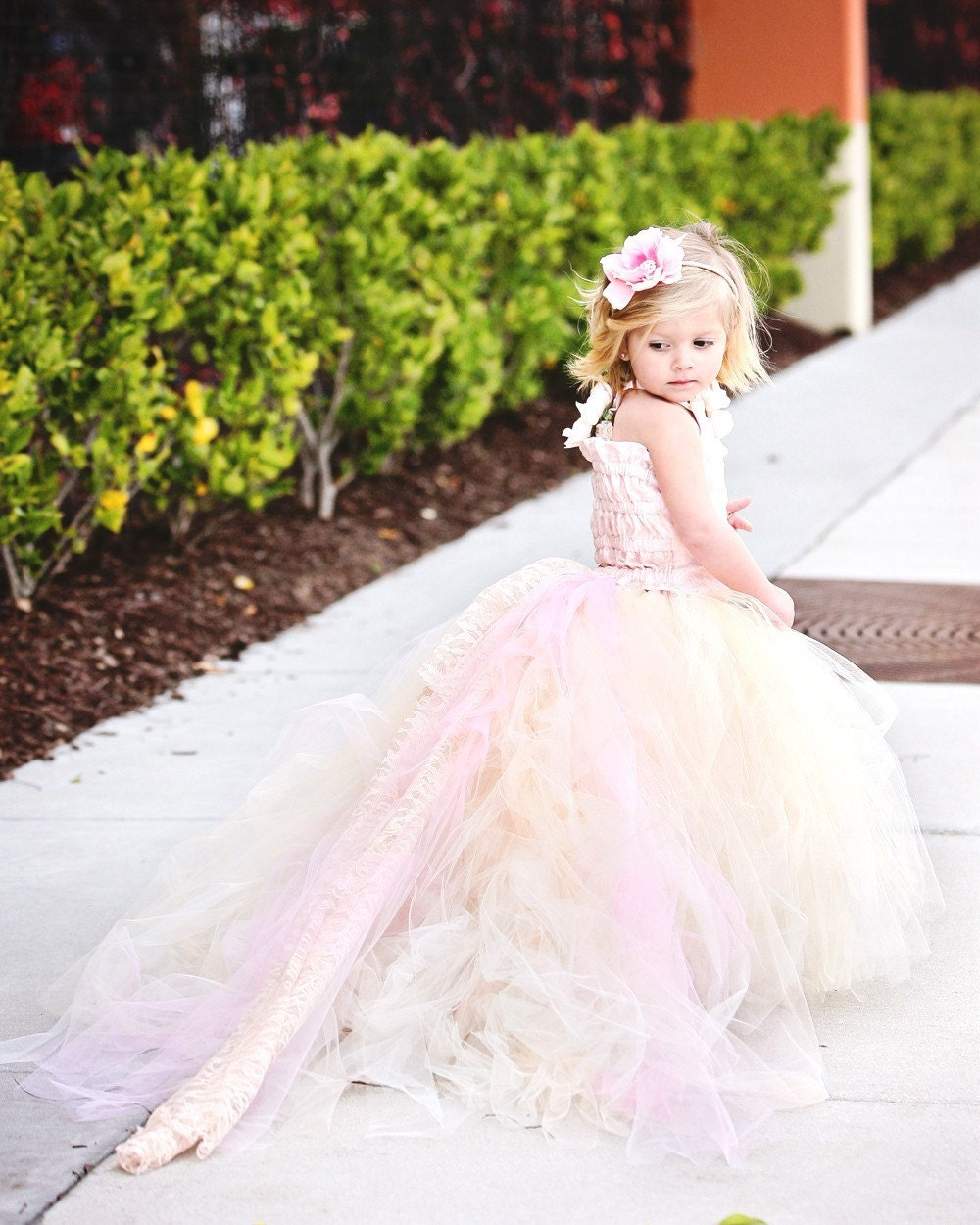 Wedding Flower Girl: Blush Flower Girl DressPink Lace DressGreat By