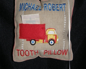 Personalized Tooth Fairy Pillow Truck Design