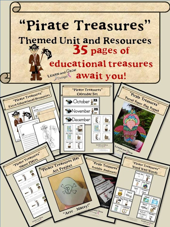 Pirate Treasures Educational and Artistic Activities