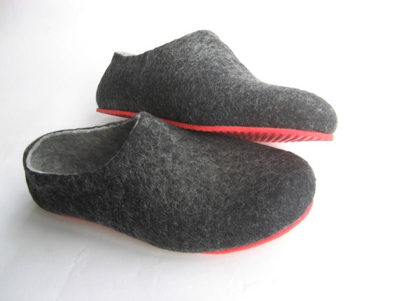 Felted Wool Slippers, House Wool Shoes, Hygge Gift, Boiled Wool Shoes Clogs Women, Rugged Soles, Cool Gifts For Mom, In Case Of Cold Feet