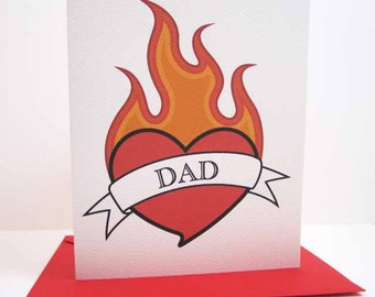 Father's Day Card / Tattoo Card / Card for Dad / Happy Father's Day