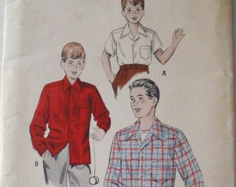 SALE - Boy's Vintage Sewing Pattern - Tailored Shirt - Butterick 6278 - Size 12, Neck 12 1/2, Uncut