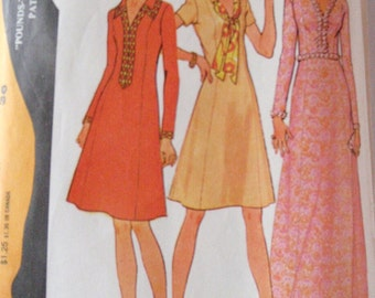 SALE - Pounds Thinner Princess Seam Dress Sewing Pattern - McCall's 3417 - Sizes 14, Bust 36