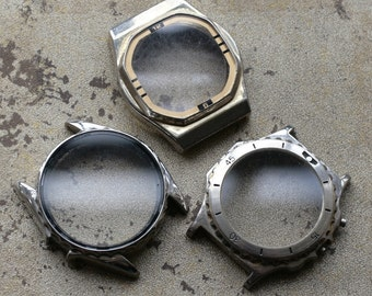 Wrist Watch Case Parts  -- set of 3