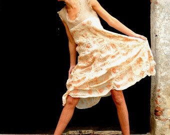 Bespoke silk eco pixie dancing party dress -made to order
