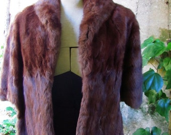 The  1950's Hazel Mink Stole or Capelet