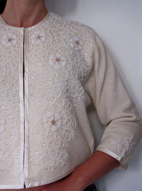 RESERVED - The Ivory Gloria Cardigan Sweater
