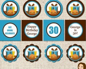 PRINTABLE Eat. Drink. Celebrate. Party Circles