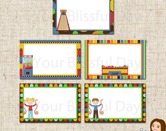 PRINTABLE Arcade Fun Party Label Tents (Boy or Girl) #502