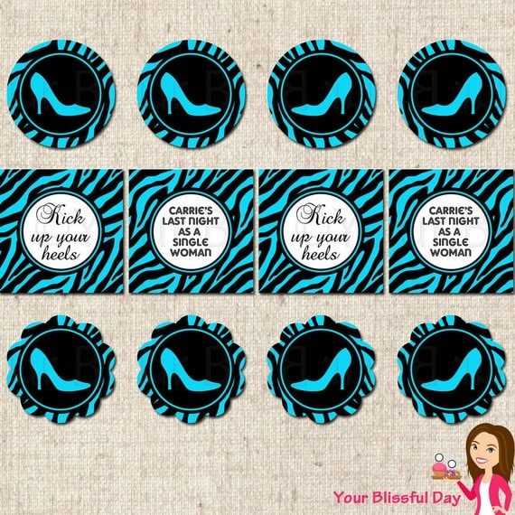 PRINTABLE Heel Bachelorette Party Circles (Many colors to choose from) #806
