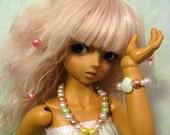MSD BJD plastic bead necklace - Twinkle pastel & Matching bracelet