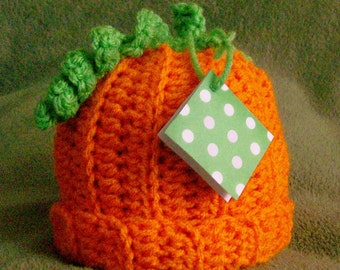 Pumpkin Hat, Crochet Pumpkin Hat, Fall Hat, Pumpkin Photo Prop, Baby Pumpkin Hat, CbbCreations,Thanksgiving Pumpkin Hat, Fall Photo Prop