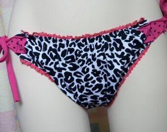Sexy Cheetah Pink Eco Cotton Lingerie Set