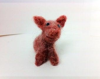 "Tiny Needle Felted Pigglet - 2"" OOAK"