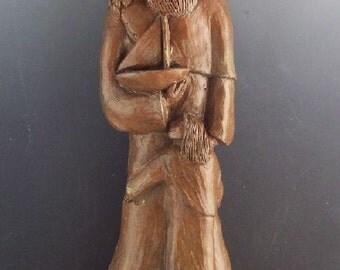 Handmade St. Nicholas Statue: Patron of Children and Sailors