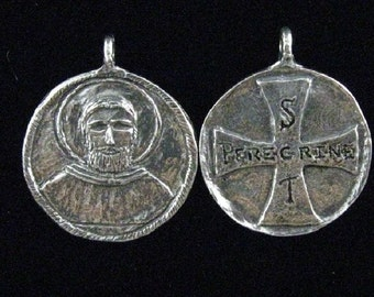 St. Peregrine, Patron of Cancer Patients and Those Cured of Cancer: Handmade Medal