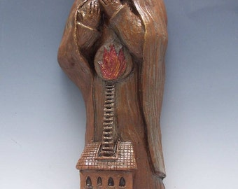 St John of the Cross, Patron of Poets, Contemplatives, and Those Who've Been through a Dark Night: Handmade Statue