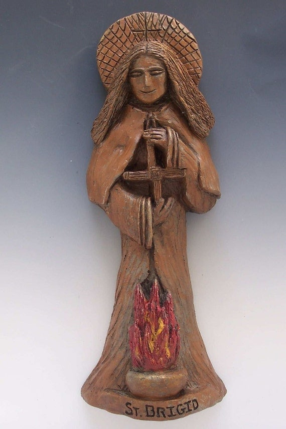 St. Brigid Statue: Patron of Ireland, Students, Infants & Saint for House-Blessing