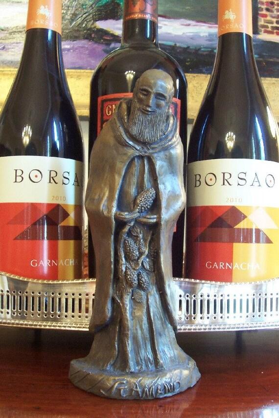 Patron of Wine, Wine Lovers, Bartenders: St. Amand, Handmade Statue