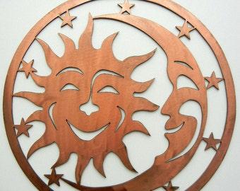 Sun Moon Stars (Small), Metal Artsy Sign