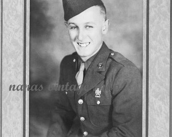 Antique Photograph, Young Military Man in Uniform, Nanas Vintage Shop on Etsy