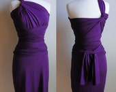 Convertible Infinity Dress, Pencil Skirt in Purple