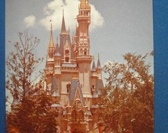 Amtrak Advertising Cinderella's Castle Disney World Postcard