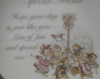 Special Friend Lasting Treasures May Pole Scene Mini Plate