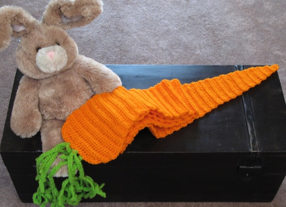 Crocheted Giant Carrot Scarf, Great For Easter, Costumes, Foodies, Fun, Unique