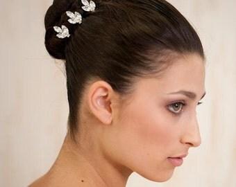 bridal rhinestones hair pins jewelry, bridal hair pin , vintage style, wedding hair accessories set of 3