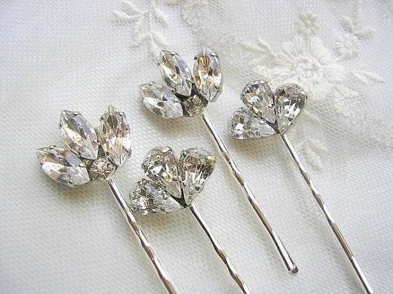 Bridal Hair Pins Wedding Hair Accessories Crystal Hair Pins