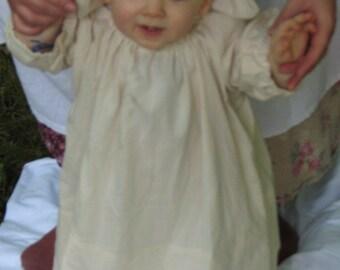Infant Cotton Chemise & Cap- Colonial