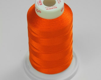 Machine Embroidery Thread Sulky Rayon    1078 Orange   Tangerine