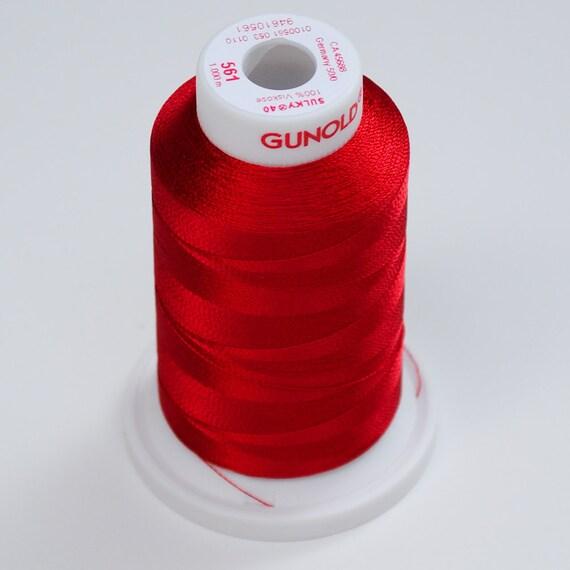 Machine Embroidery Thread Sulky Rayon 561 Red Crimson