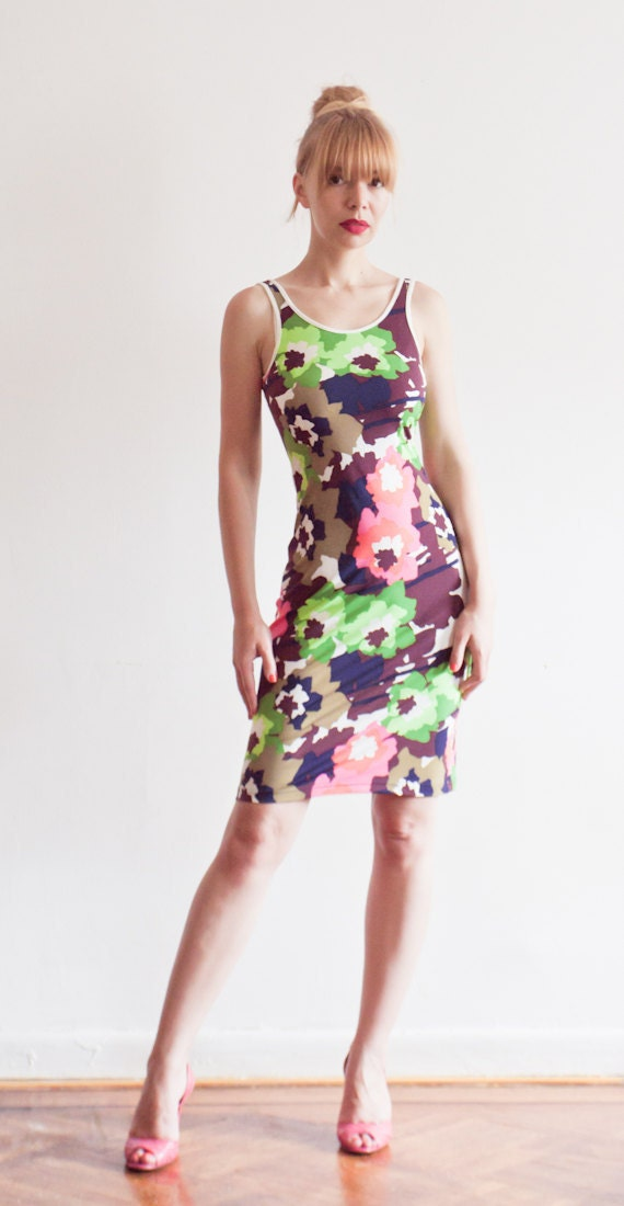 CLEARANCE SALE - Floral Camo Print Tank Dress - Size SMALL