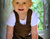 Mud Puddle Brown Linen - A Good Day OVERALLs