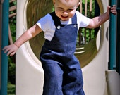 Navy Blue Linen - A Good Day OVERALLs