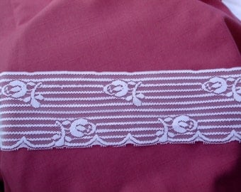 Vintage Lace White Delicate Wide Trim (3 yards)
