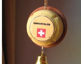 Swiss cheese Emmentaler Christmas ornament (plain)
